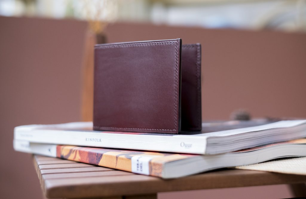 Brown handmade leather wallets