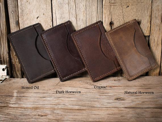 Personalized Minimalist Wallet from LifetimeLeatherCo