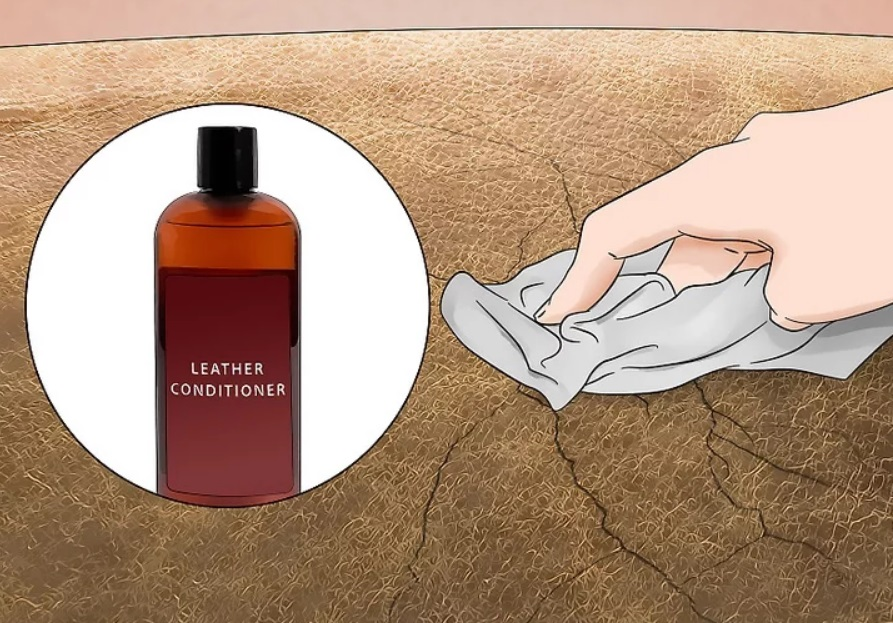 Apply conditioner on the the leather lightly with a soft cloth or your finger