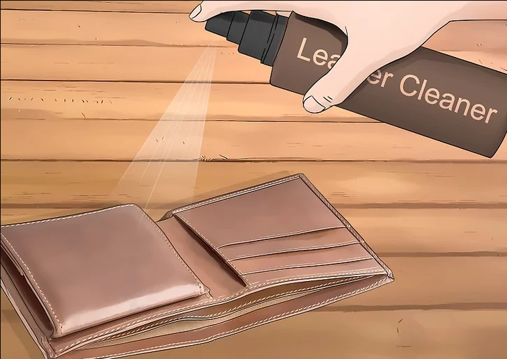 Clean the wallet's interior