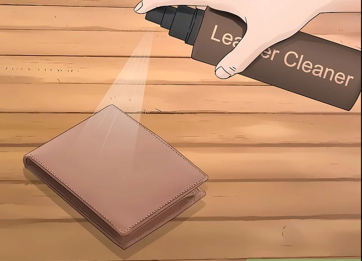 Use leather cleaner for cleaning a leather wallet