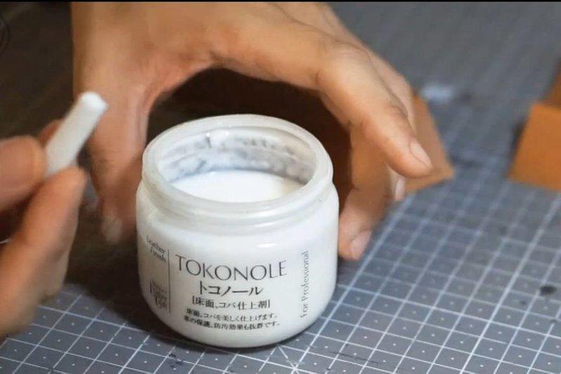 Apply gum (Tokonole) and burnish with slicker