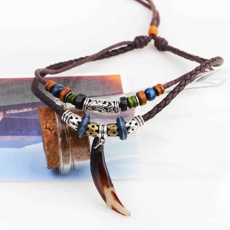Leather Necklace men