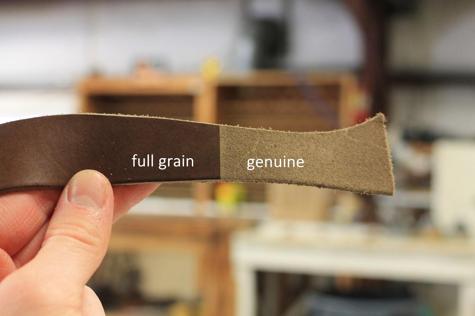 Full grain leather vs genuine leather