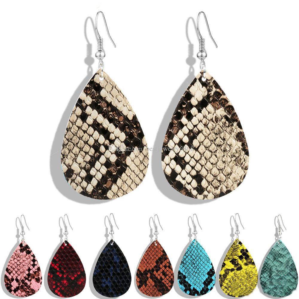 Leather earring for women