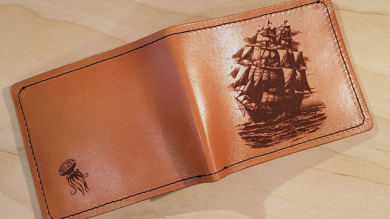 Laser leather engraving