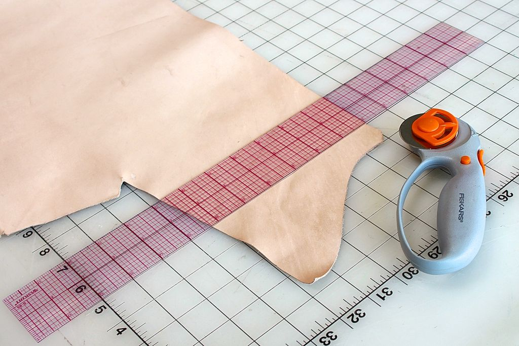 Cutting leather preparation