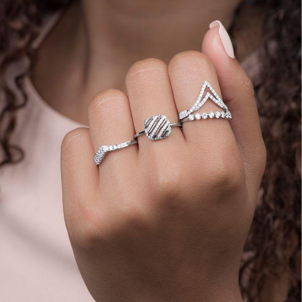 Diamond Gold Stacking Ring