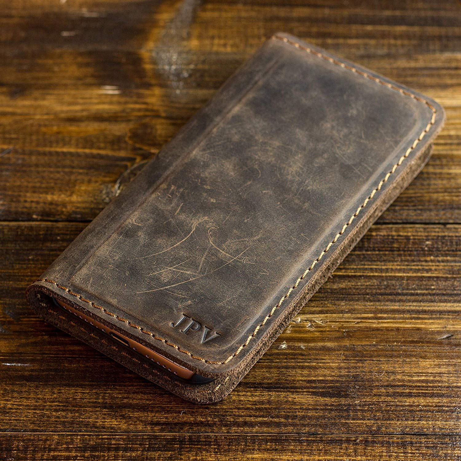 How To Distress Leather Wallet