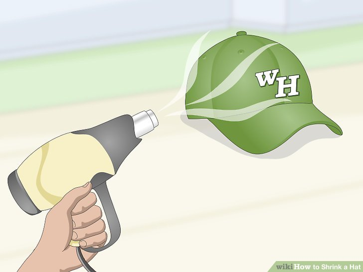 How to shrink a wool hat by drying the hat