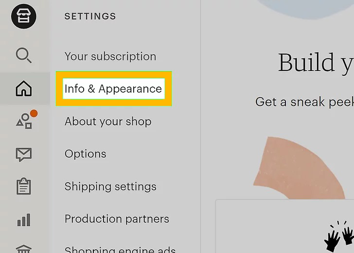 Click Info & Appearance.