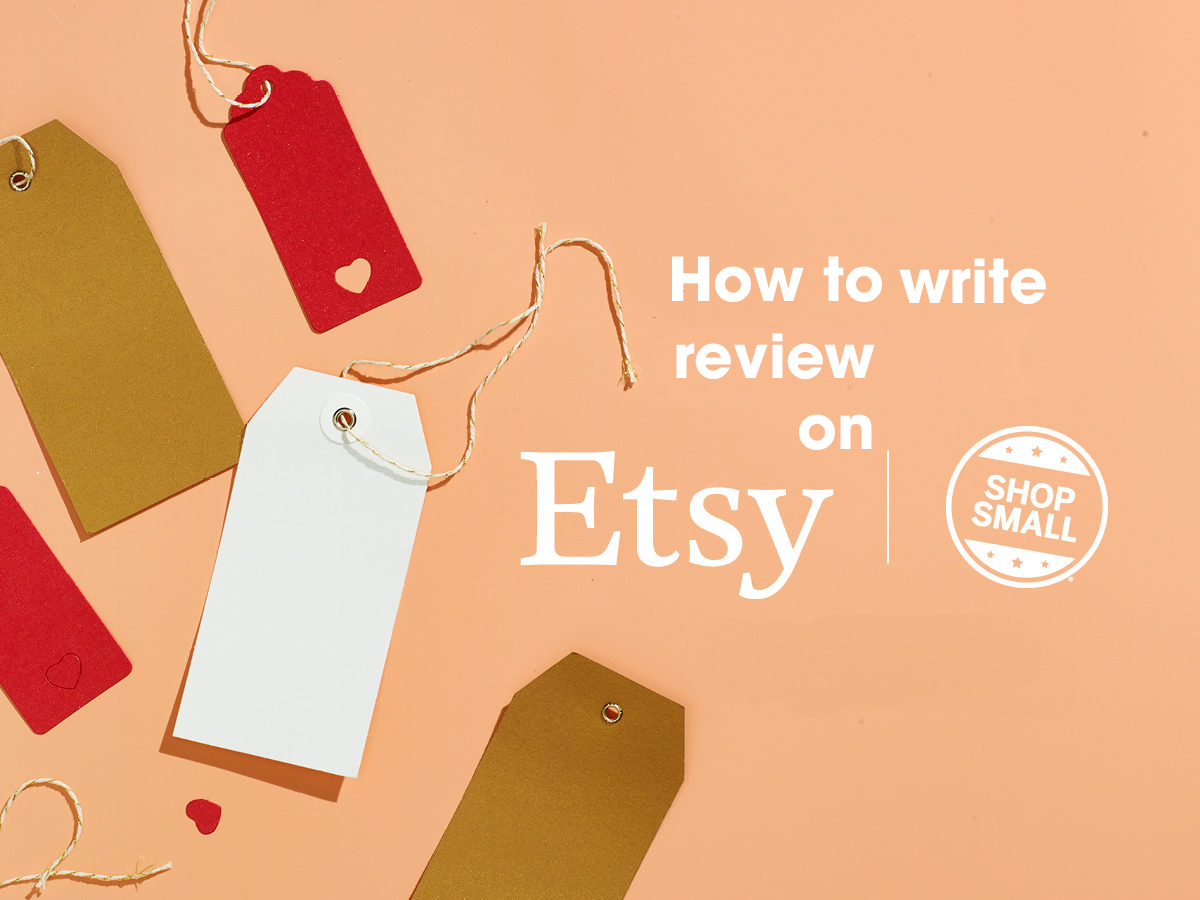 How to write review on etsy
