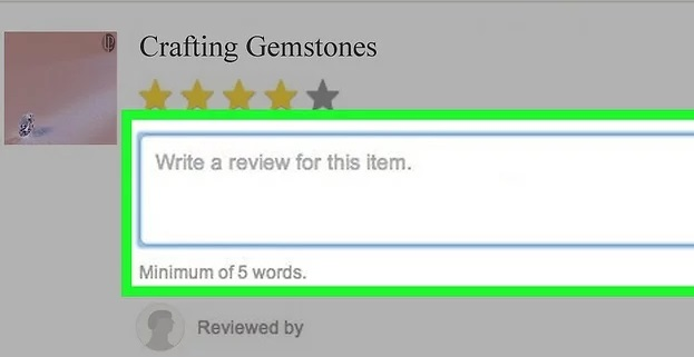 Write your review in the textbox.