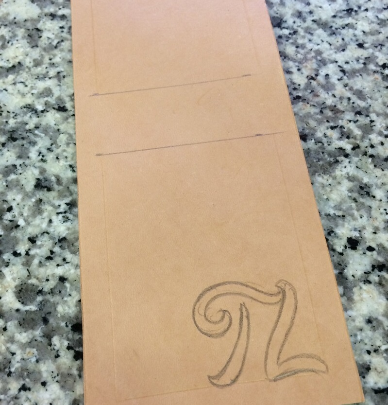 How to Draw On Leather Wallet